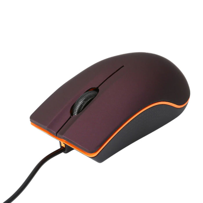 M20 Optische Maus verkabelt - geräuschlos / optisch / beidhändig / ergonomisch - rot