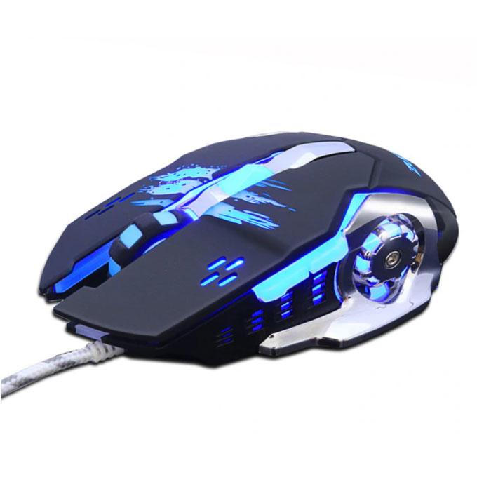 MMR4 Optical Gaming Mouse verkabelt - Rechtshänder und ergonomisch mit DPI-Einstellung - 3200 DPI - 6 Tasten - Schwarz