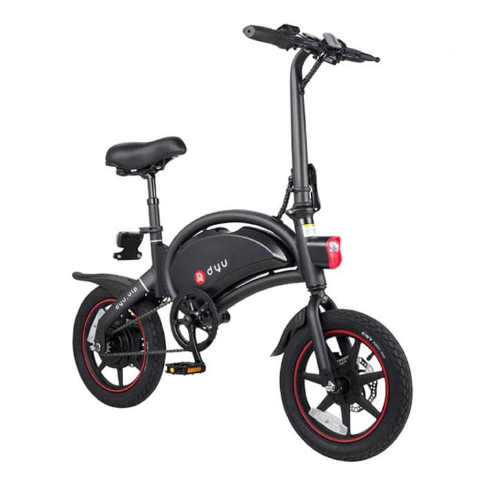 Foldable Electric Bicycle - Off-Road Smart E Bike - 240W - 6 Ah Battery - Black