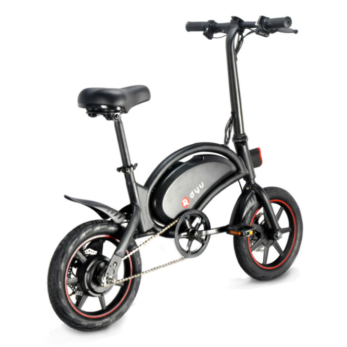 Dyu Vouwbare Elektrische Fiets - Off-Road Smart E Bike - 240W - 6 Ah Batterij - Zwart