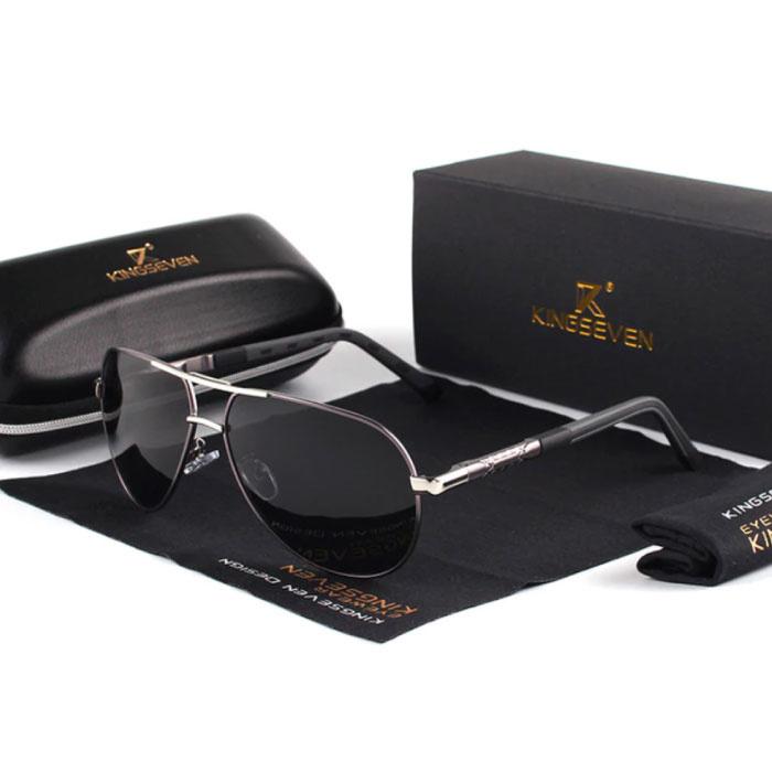 Goldstar Zonnebril - Pilotenbril met UV400 en Polarisatie Filter voor Mannen en Vrouwen - Grijs