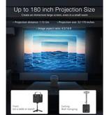 Blitzwolf BW-VP7 Mini LCD Projector met Speaker - Mini Beamer Home Media Speler - 5000 Lumen