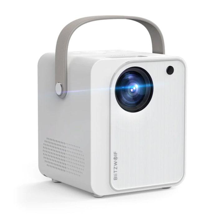 BW-VP7 Mini LCD Projector with Speaker - Mini Beamer Home Media Player - 5000 Lumen - White