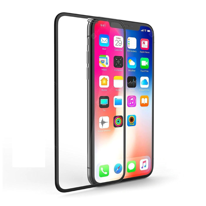 iPhone XS Full Cover Screen Protector 2.5D Tempered Glass Film Gehard Glas Glazen
