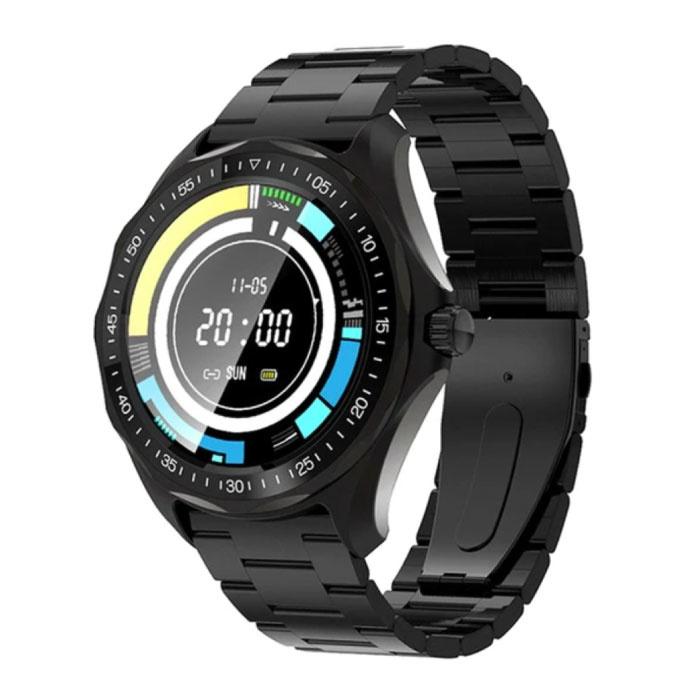 Blitzwolf BW-HL3 Smartwatch Smartband Smartphone Fitness Sport Activity Tracker Horloge IPS iOS Android iPhone Samsung Huawei Zwart Staal