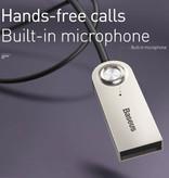 Baseus BA01 Bluetooth 5.0 Ontvanger Transmitter AUX Jack 3.5mm - Draadloze Adapter Audio Receiver Streamen Handsfree Bellen + Microfoon