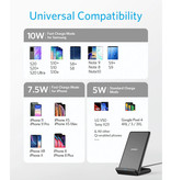 ANKER Powerwave Wireless Charger - Fast Charge Qi Universal Charger 10W Wireless Charging Pad Black