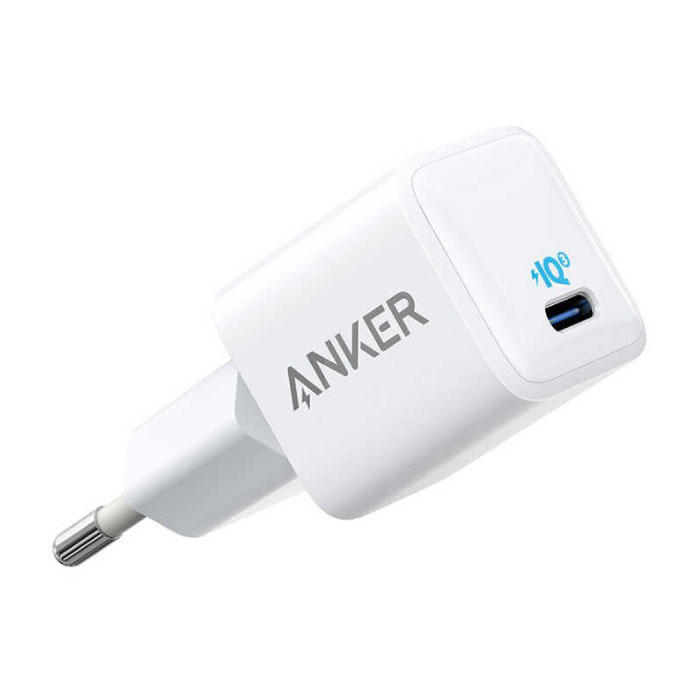 ANKER Nano USB Stekkerlader Fast Charge - 18W Quick Charge 3.0 - Muur Oplader Thuislader Adapter Wit