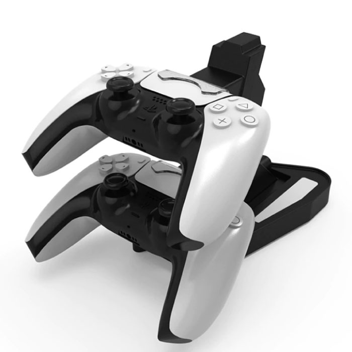 Charging Station for PlayStation 5 PS5 Charging Dock Station for Controller - Dual Charging Station Black