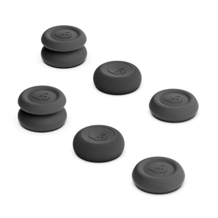 6 Daumengriffe für PlayStation 4 und 5 - Anti-Rutsch-Controller-Kappen PS4 / PS5 - Schwarz