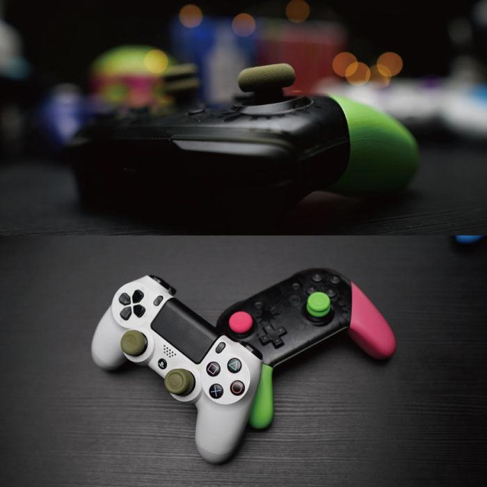 Skull & Co. 6 Thumb Grips voor PlayStation 4 en 5 - Antislip Controller Caps PS4/PS5 - Khaki