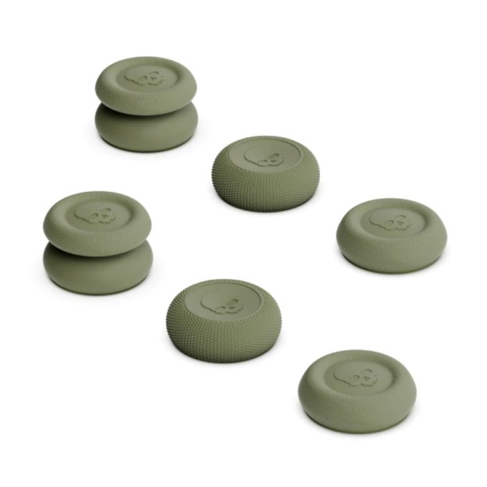 6 Thumb Grips for PlayStation 4 and 5 - Anti-Slip Controller Caps PS4 / PS5 - Khaki