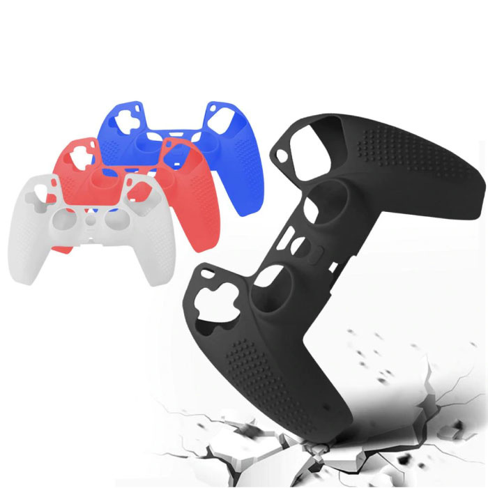 Stuff Certified® Antislip Hoes / Skin voor PlayStation 5 Controller - Grip Cover PS5 - Rood