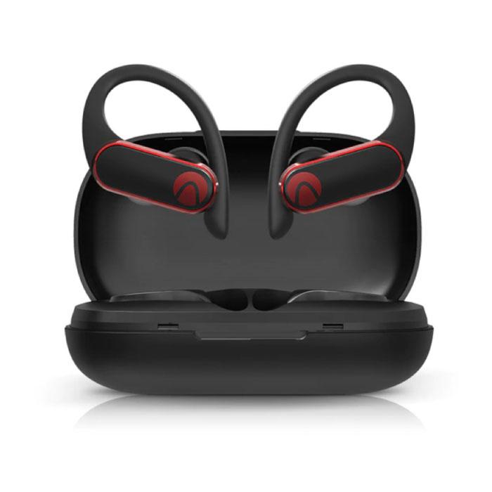 Airaux kabellose Kopfhörer mit Ohrbügel Sport - Touch Control - TWS Bluetooth 5.0 kabellose Knospen Ohrhörer Ohrhörer Ohrhörer Schwarz
