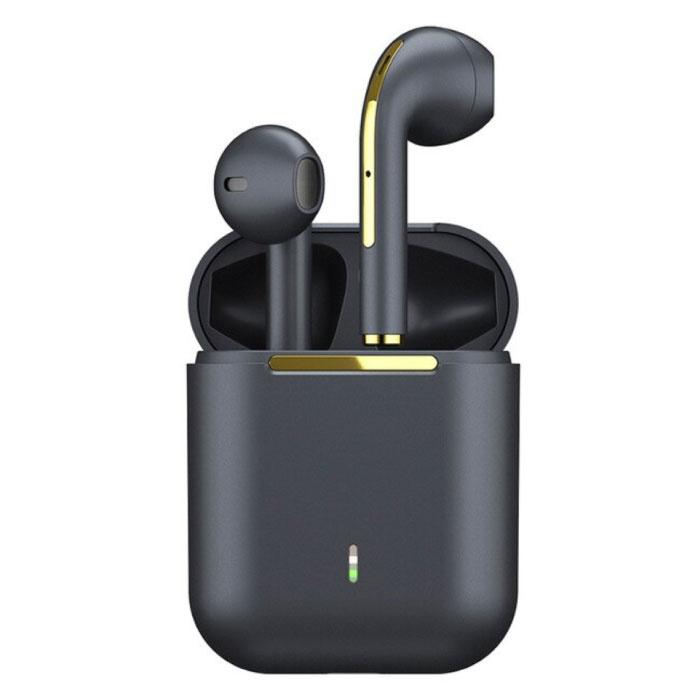 J18 Drahtlose Ohrhörer - True Touch Control TWS Ohrhörer Bluetooth 5.0 Drahtlose Ohrhörer Ohrhörer Ohrhörer Schwarz