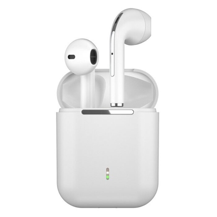 J18 Wireless Earphones - True Touch Control TWS Earbuds Bluetooth 5.0 Wireless Ear Buds Earphones Earphone White