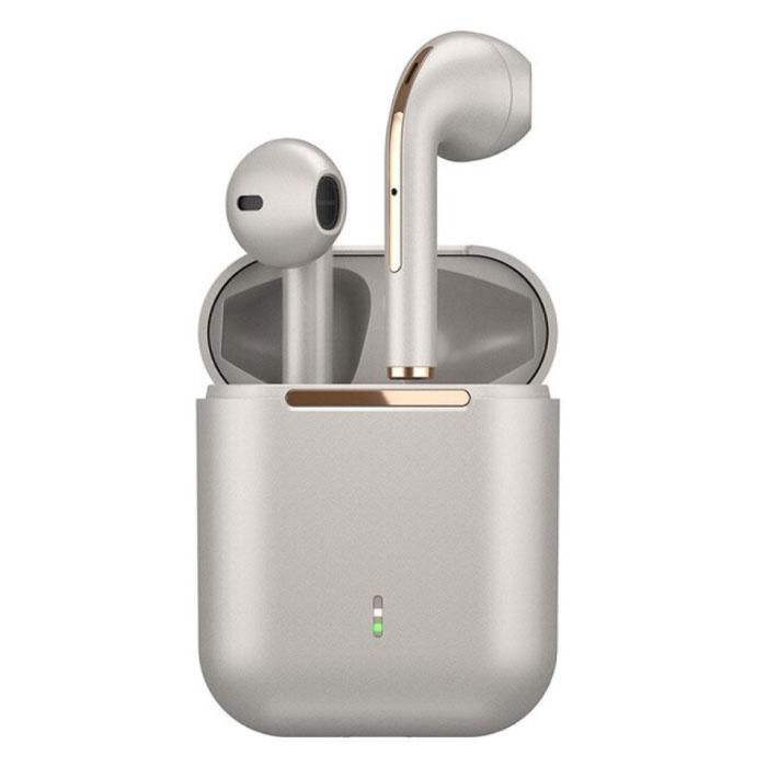 J18 Wireless Earphones - True Touch Control TWS Earbuds Bluetooth 5.0 Wireless Ear Buds Earphones Earphones Rose Gold