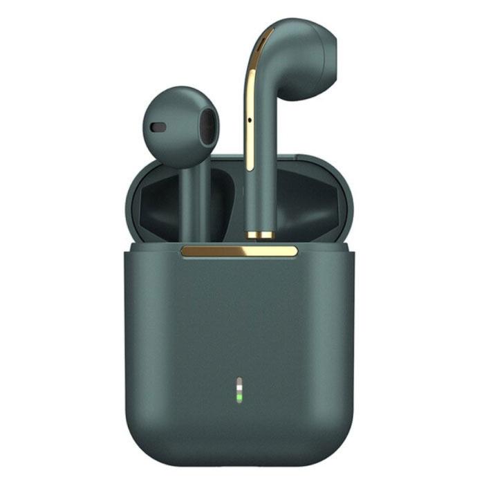 J18 Wireless Earphones - True Touch Control TWS Earbuds Bluetooth 5.0 Wireless Ear Buds Earphones Earphones Green