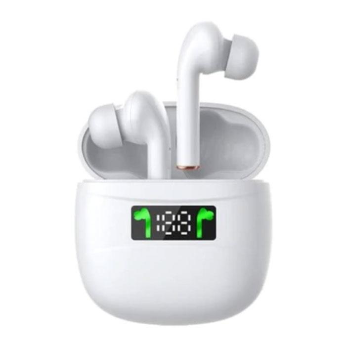 J3 Draadloze Bluetooth-oortelefoon - Echte Touch Control-oortelefoon TWS-oortelefoon - Wit