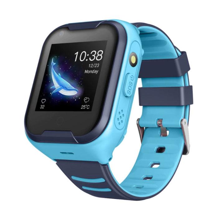 Smartwatch pour enfants avec GPS Tracker Smartband Smartphone Watch IPS iOS Android Blue