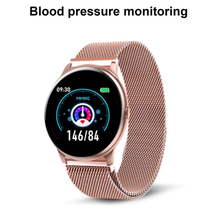 Lige 2020 Fashion Sports Smartwatch Fitness Sport Activity Tracker Smartphone Horloge iOS Android - Wit