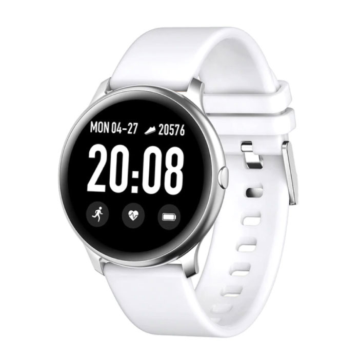 2020 Modesport Smartwatch Fitness Sport Aktivität Tracker Smartphone Uhr iOS Android - Weiß