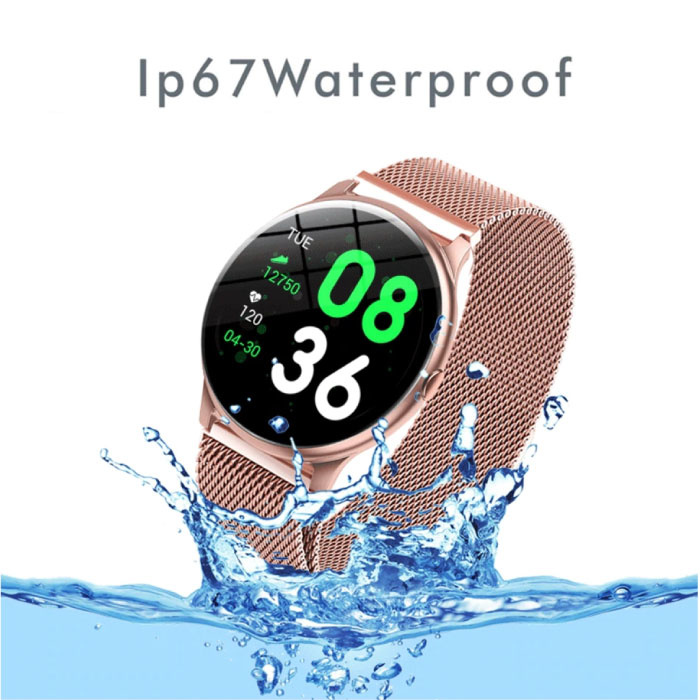 Lige 2020 Fashion Sports Smartwatch Fitness Sport Activity Tracker Smartphone Horloge iOS Android - Roze
