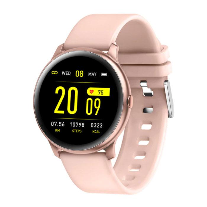 2020 Mode Sport Smartwatch Fitness Sport Aktivität Tracker Smartphone Uhr iOS Android - Pink