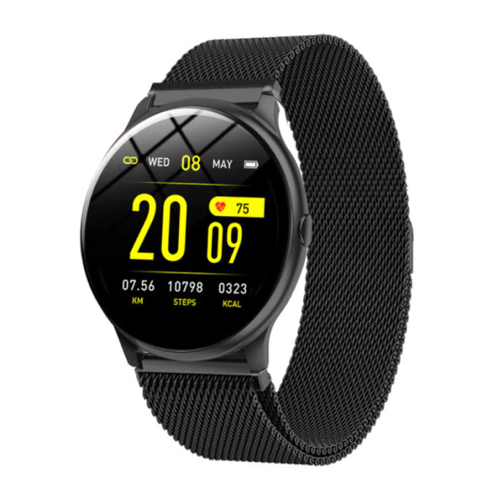 2020 Fashion Sports Smartwatch Fitness Sport Activity Tracker Smartphone Horloge iOS Android - Zwart