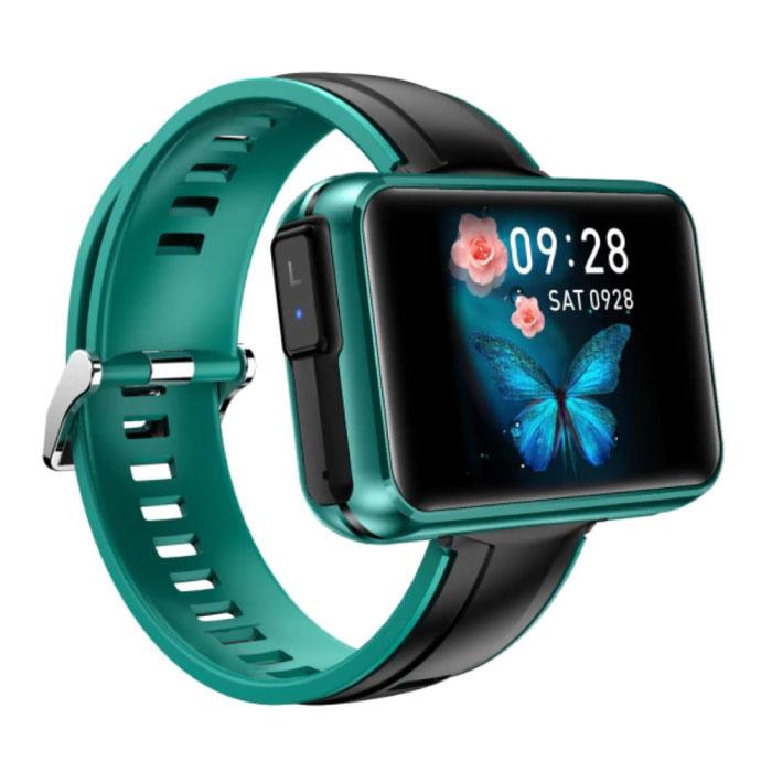 T91 Smartwatch Breed Display met Draadloze Oortjes - 1.4 Inch Scherm - Smartband Fitness Tracker Sport Activity Horloge iOS Android Groen