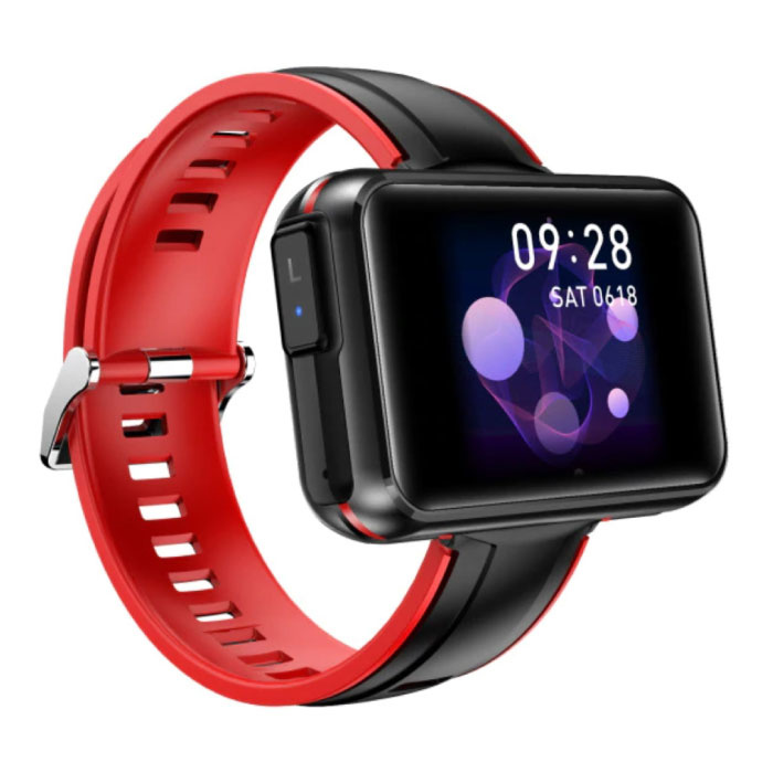 T91 Smartwatch Breed Display met Draadloze Oortjes - 1.4 Inch Scherm - Smartband Fitness Tracker Sport Activity Horloge iOS Android Rood
