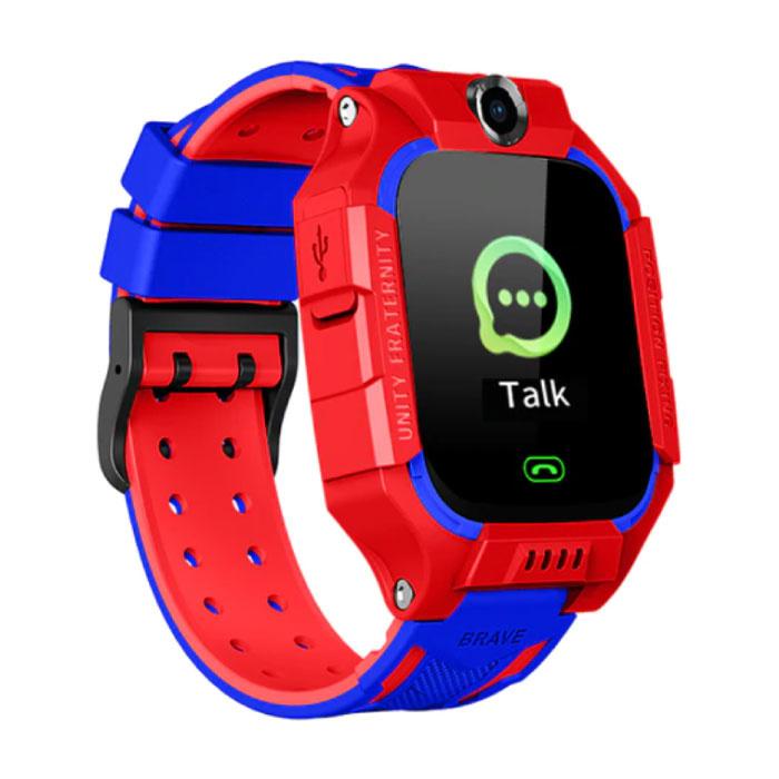 Q19 Smartwatch für Kinder mit GPS Tracker Smartband Smartphone Uhr IPS iOS Android Red
