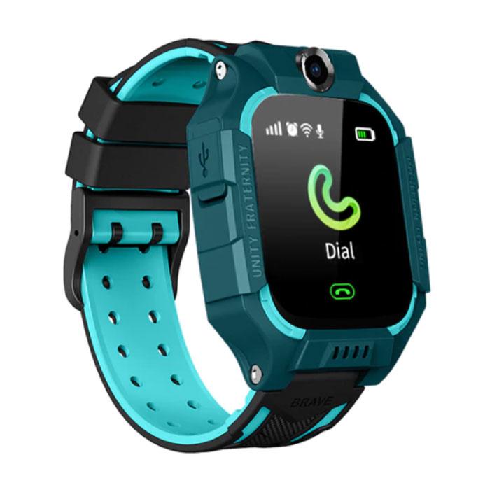 Q19 Smartwatch für Kinder mit GPS Tracker Smartband Smartphone Uhr IPS iOS Android Blue