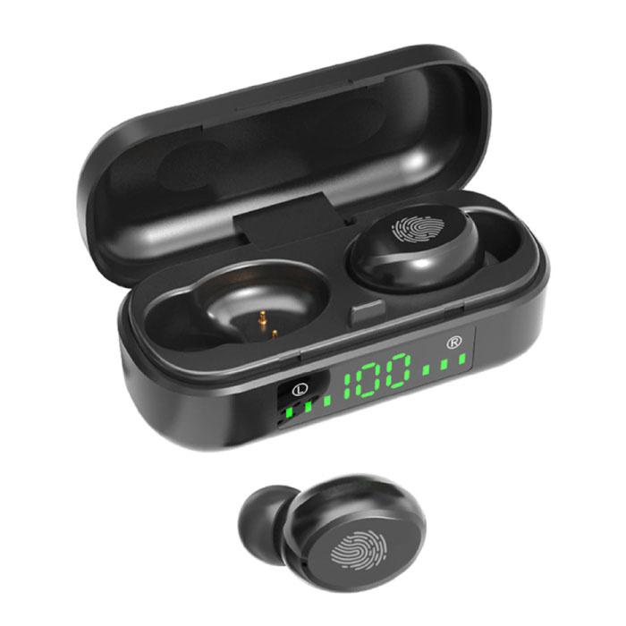 Écouteurs sans fil V8 - True Touch Control TWS Écouteurs Bluetooth 5.0 Écouteurs sans fil Écouteurs Écouteurs Noir