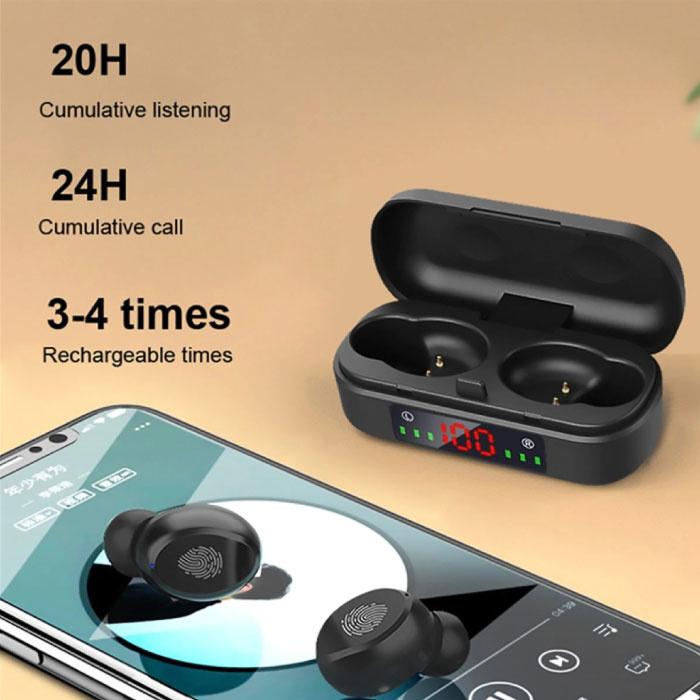 BLZK V8 Draadloze Oortjes - True Touch Control TWS Oordopjes Bluetooth 5.0  Wireless Ear Buds Earphones Oortelefoon Zwart