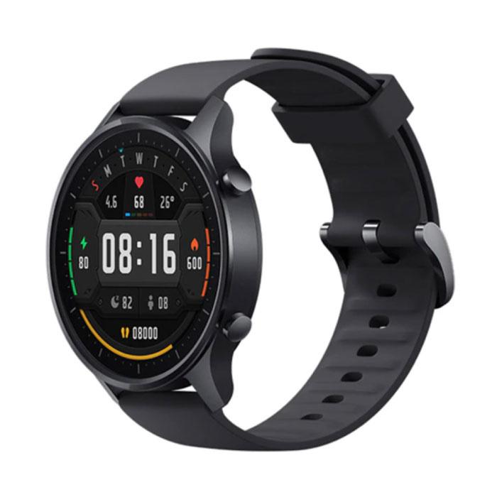 Mi Uhr Farbe Sport Smartwatch Fitness Sport Aktivität Tracker Smartphone Uhr iOS Android 5ATM iPhone Samsung Huawei Schwarz