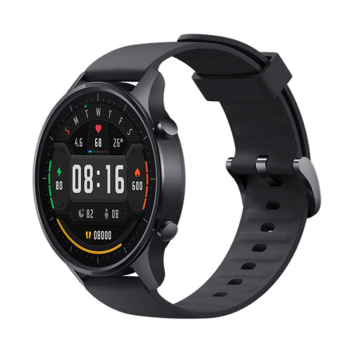Mi Watch Color Sports Smartwatch Fitness Sport Activity Tracker Smartphone Horloge iOS Android 5ATM iPhone Samsung Huawei Zwart