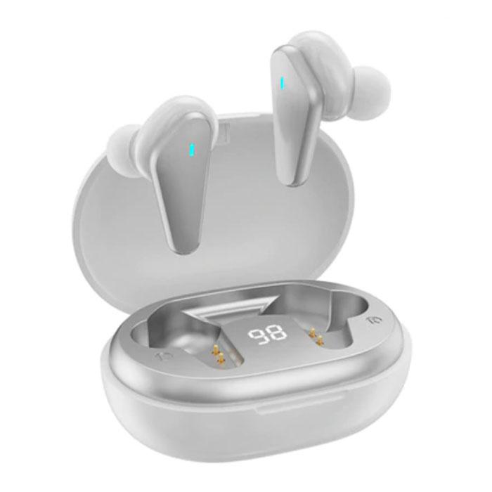 Draadloze Oortjes - TWS Oordopjes Bluetooth 5.0  Wireless Ear Buds Earphones Oortelefoon Wit
