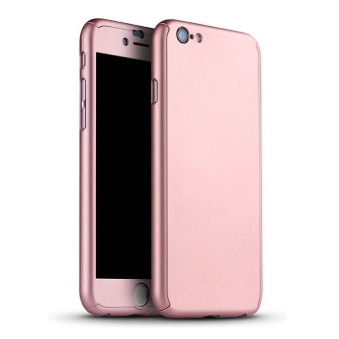 iPhone 7 Plus 360 ° Full Cover - Full Body Case Case + Screen protector Pink