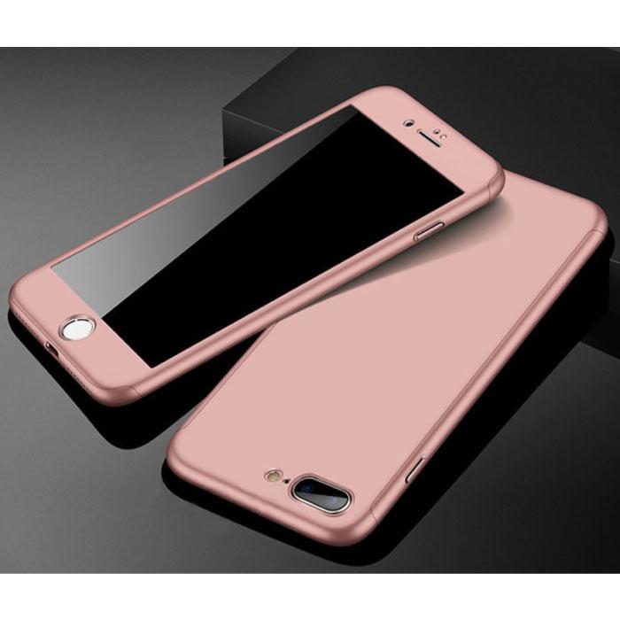 Cover Completa 360 ° per iPhone 5S - Custodia Completa Protezione Schermo Rosa