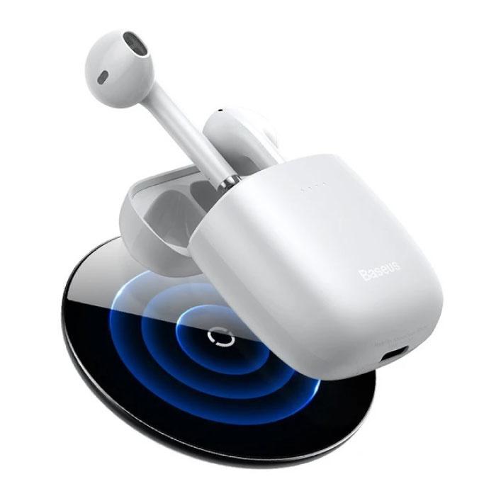 Encok W04 Draadloze Oortjes - Qi Draadloos Opladen - True Touch Control TWS Bluetooth 5.0 Earphones Earbuds Oortelefoon Wit