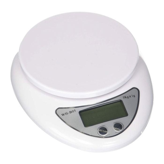 Keukenweegschaal Digitaal - 5kg / 1g - Precisie Digitale Weegschaal Keuken