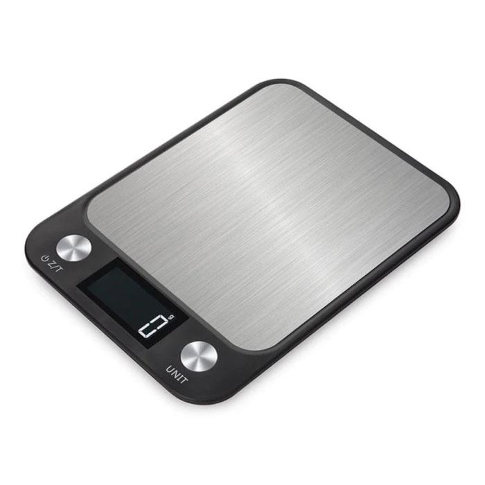 Keukenweegschaal Digitaal - 10kg / 1g - Precisie Digitale Weegschaal Keuken Zwart