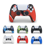 Stuff Certified® Antislip Hoes / Skin voor PlayStation 5 Controller Case - Grip Cover PS5 - Rood