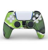 Stuff Certified® Antislip Hoes / Skin voor PlayStation 5 Controller Case - Grip Cover PS5 - Camo Groen