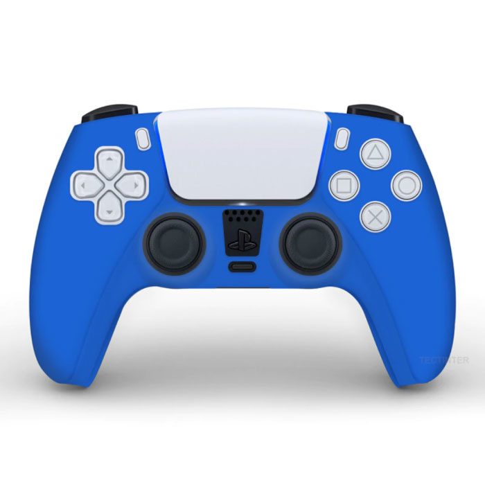Stuff Certified® Antislip Hoes / Skin voor PlayStation 5 Controller Case - Grip Cover PS5 - Blauw