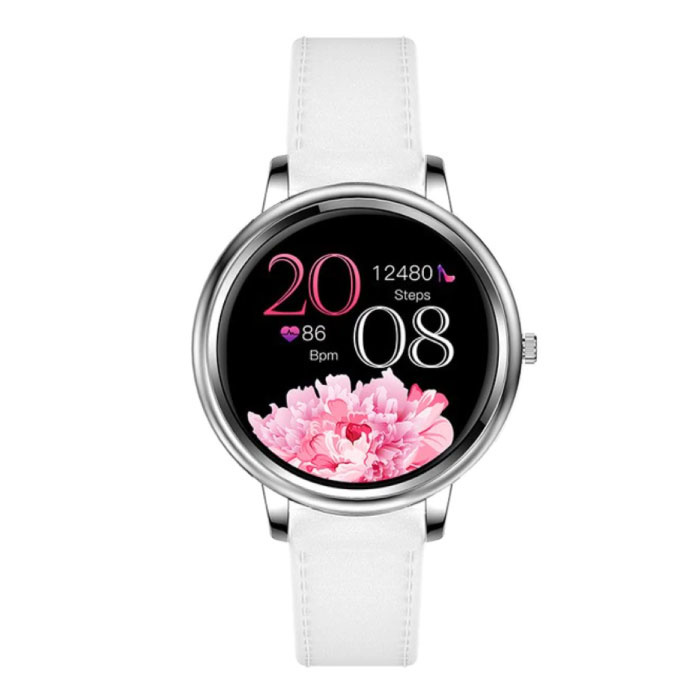 Fashion Smartwatch voor Vrouwen - Fitness Sport Activity Tracker Smartphone Horloge iOS Android - Zilver