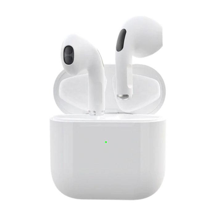 Écouteurs sans fil Pro 4 - Écouteurs True Touch Control TWS Bluetooth 5.0 Écouteurs sans fil Écouteurs Blanc