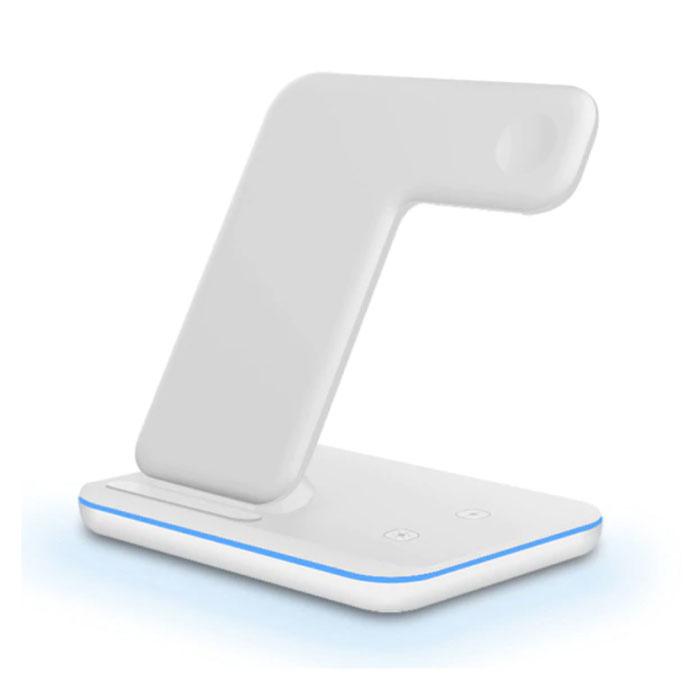 3 in 1 Ladestation für Apple iPhone / iWatch / AirPods - Ladestation 15W Wireless Pad Weiß