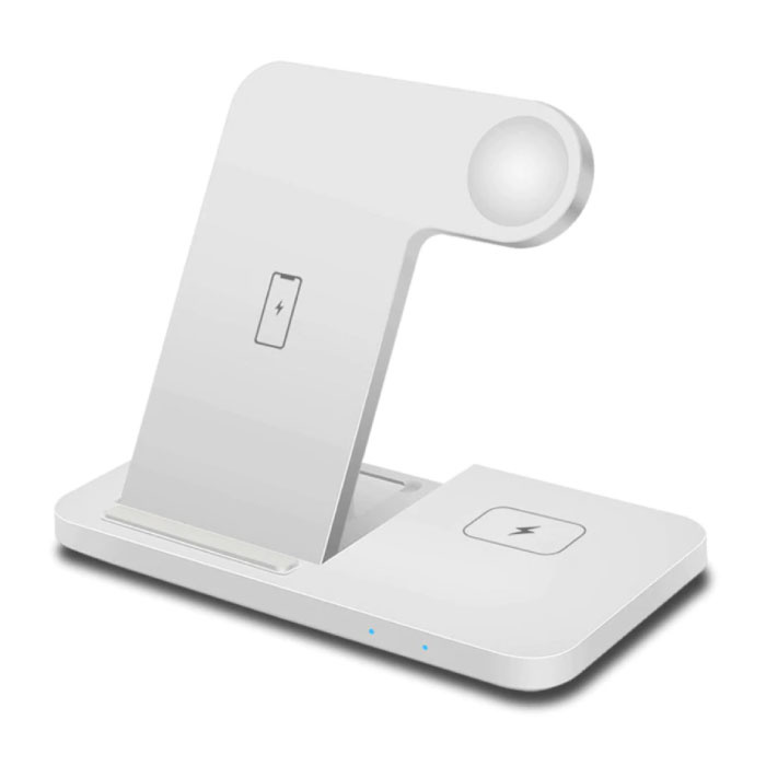 3 in 1 Oplaadstation voor Apple iPhone / iWatch / AirPods -  Charging Dock 15W Wireless Pad Wit